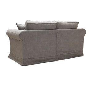 Canapé 2 places en tissu gris moyen - Crowson - Visuel n°4