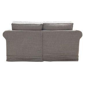 Canapé 2 places en tissu gris moyen - Crowson - Visuel n°5