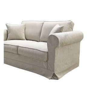 Canapé 2 places en tissu beige clair - Crowson - Visuel n°6