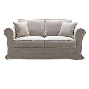 Canapé 2 places en tissu beige clair - Crowson - Visuel n°1