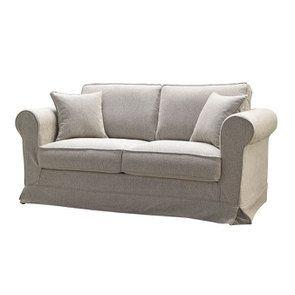 Canapé 2 places en tissu beige clair - Crowson - Visuel n°2