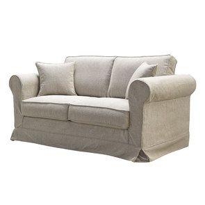 Canapé 2 places en tissu beige clair - Crowson - Visuel n°3