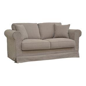Canapé 2 places gris en tissu - Crowson - Visuel n°2