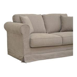 Canapé 2 places gris en tissu - Crowson - Visuel n°3