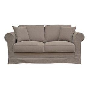 Canapé 2 places gris en tissu - Crowson