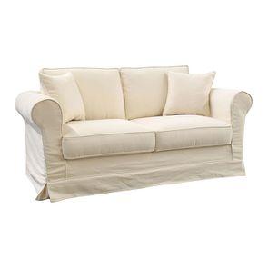 Canapé 2 places en tissu beige - Crowson - Visuel n°2
