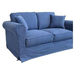 Canapé 2 places en tissu bleu - Crowson - Visuel n°6