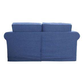 Canapé 2 places en tissu bleu - Crowson - Visuel n°3
