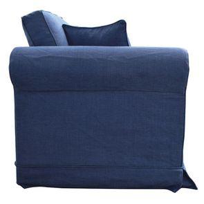 Canapé 2 places en tissu bleu - Crowson - Visuel n°5