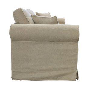 Canapé 2 places en tissu beige - Crowson - Visuel n°3