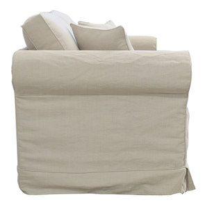 Canapé 2 places en tissu beige - Crowson - Visuel n°4