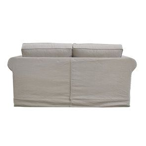 Canapé 2 places en tissu beige - Crowson - Visuel n°5