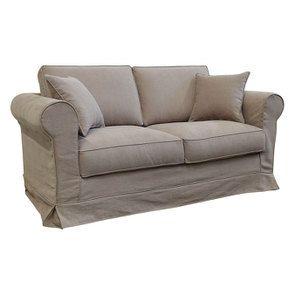 Canapé 2 places en tissu marron clair - Crowson - Visuel n°2