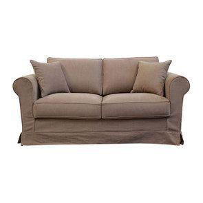 Canapé 2 places en tissu marron - Crowson - Visuel n°1