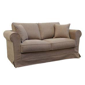 Canapé 2 places en tissu marron - Crowson - Visuel n°2