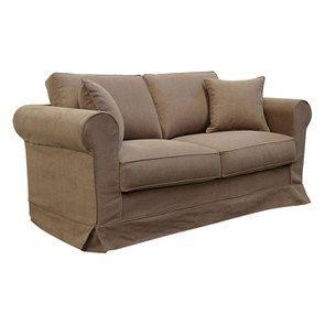 Canapé 2 places en tissu marron - Crowson - Visuel n°3