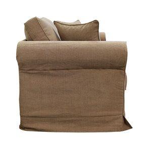 Canapé 2 places en tissu marron - Crowson - Visuel n°4