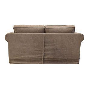 Canapé 2 places en tissu marron - Crowson - Visuel n°5