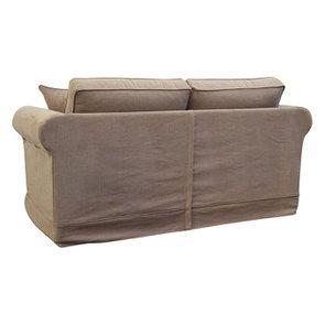 Canapé 2 places en tissu marron - Crowson - Visuel n°6
