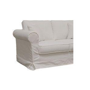 Canapé 2 places en tissu blanc - Crowson - Visuel n°6