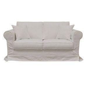 Canapé 2 places en tissu blanc - Crowson - Visuel n°1