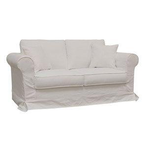 Canapé 2 places en tissu blanc - Crowson - Visuel n°2