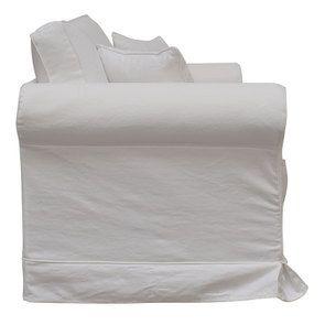Canapé 2 places en tissu blanc - Crowson - Visuel n°3