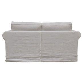 Canapé 2 places en tissu blanc - Crowson - Visuel n°4