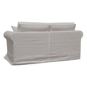 Canapé 2 places en tissu blanc - Crowson - Visuel n°5