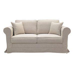 Canapé 2 places en tissu beige - Crowson - Visuel n°1