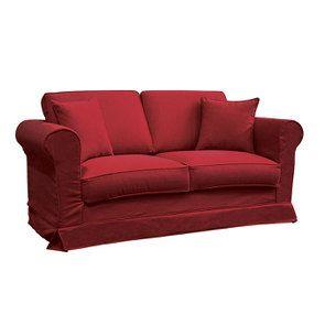 Canapé 2 places en tissu rouge - Crowson - Visuel n°2
