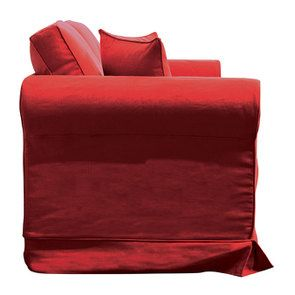 Canapé 2 places en tissu rouge - Crowson - Visuel n°5