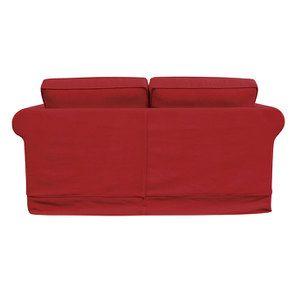 Canapé 2 places en tissu rouge - Crowson - Visuel n°6