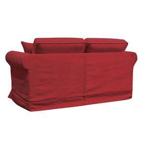 Canapé 2 places en tissu rouge - Crowson - Visuel n°7