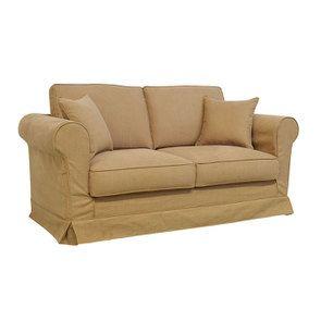 Canapé 2 places en tissu havane - Crowson - Visuel n°2