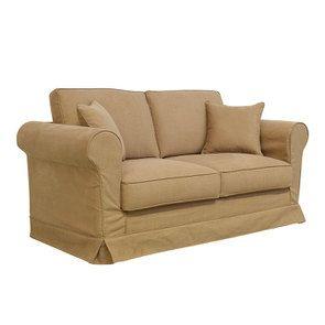 Canapé 2 places en tissu havane - Crowson - Visuel n°3
