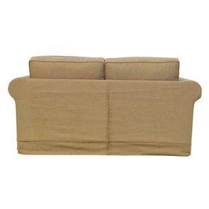 Canapé 2 places en tissu havane - Crowson - Visuel n°6