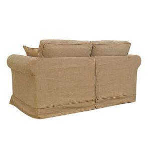 Canapé 2 places en tissu havane - Crowson - Visuel n°7