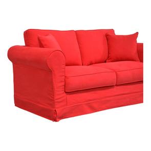 Canapé convertible 2 places en tissu rouge - Crowson - Visuel n°5