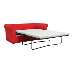 Canapé convertible 2 places en tissu rouge - Crowson - Visuel n°3