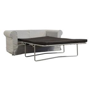 Canapé convertible 2 places en tissu gris clair - Crowson - Visuel n°2