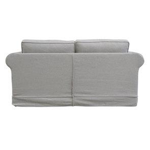 Canapé convertible 2 places en tissu gris clair - Crowson - Visuel n°6