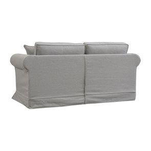 Canapé convertible 2 places en tissu gris clair - Crowson - Visuel n°7