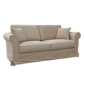 Canapé 3 places en tissu camel - Crowson - Visuel n°2