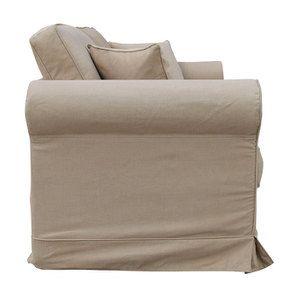 Canapé 3 places en tissu camel - Crowson - Visuel n°5