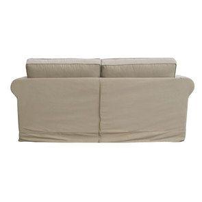 Canapé 3 places en tissu camel - Crowson - Visuel n°6
