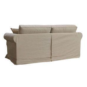 Canapé 3 places en tissu camel - Crowson - Visuel n°7