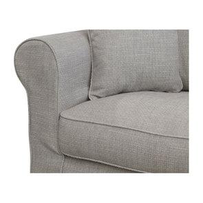 Canapé 3 places en tissu gris - Crowson - Visuel n°8