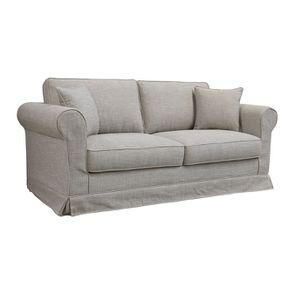 Canapé 3 places en tissu gris - Crowson - Visuel n°4