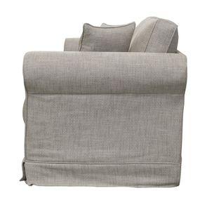 Canapé 3 places en tissu gris - Crowson - Visuel n°7